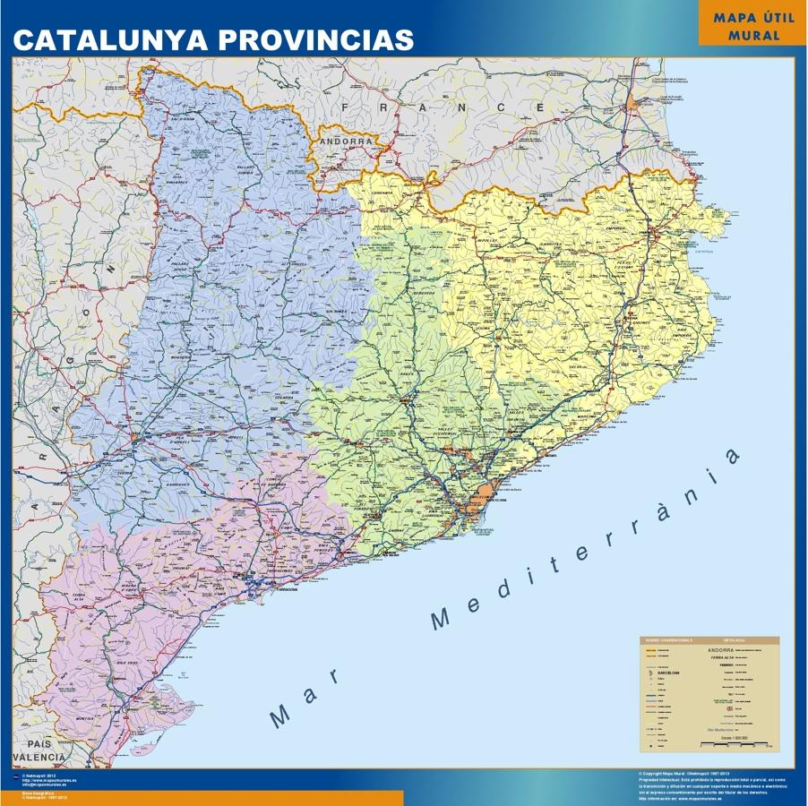 mapa catalunya provincial