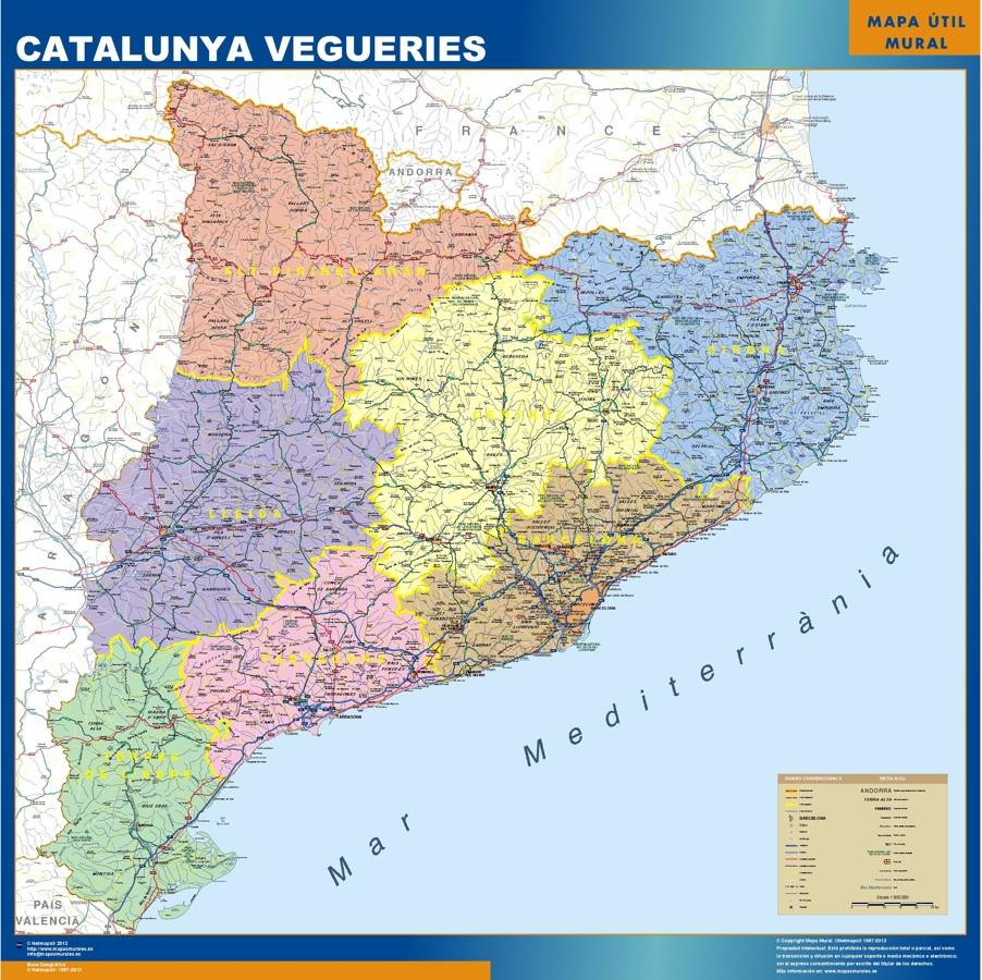 mapa catalunya vegueries